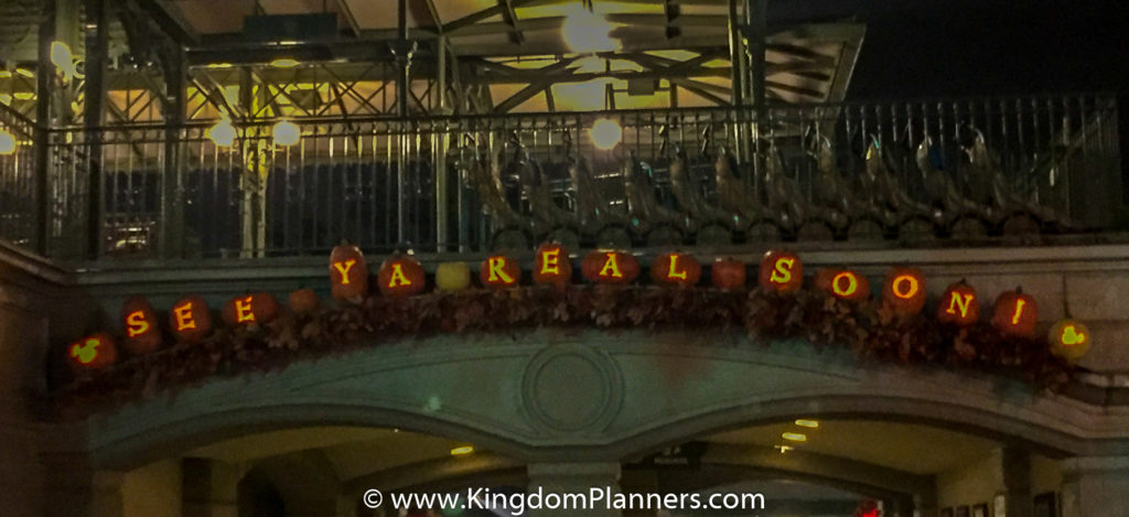 Kingdom Planners Mickey's Not-So-Scary Halloween Party Good Bye